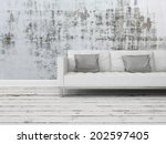 grunge rustic greyscale... | Shutterstock . vector #202597405