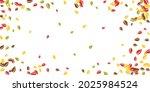 falling autumn leaves. red ... | Shutterstock .eps vector #2025984524