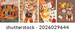 autumn. vector illustration of...   Shutterstock .eps vector #2026029644