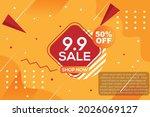 9.9 sale banner. promo offer... | Shutterstock .eps vector #2026069127