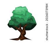 flat tree icon illustration.... | Shutterstock .eps vector #2026073984