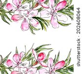 floral background. watercolor... | Shutterstock . vector #202608064