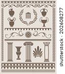 ancient greek and roman design... | Shutterstock .eps vector #202608277