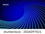 abstract flowing line digital...   Shutterstock .eps vector #2026097021