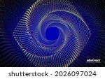 abstract flowing line digital...   Shutterstock .eps vector #2026097024