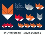 fox modern geometric shape set... | Shutterstock .eps vector #2026108061