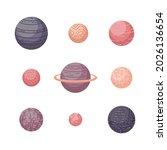 vector astrological set with... | Shutterstock .eps vector #2026136654