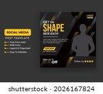 fitness gym flyer social media... | Shutterstock .eps vector #2026167824