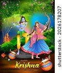illustration of lord krishna...   Shutterstock .eps vector #2026178207