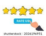 five gold star rating....   Shutterstock .eps vector #2026196951