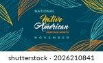 native american heritage month. ...   Shutterstock .eps vector #2026210841