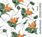 beautiful endless gentle floral ...   Shutterstock .eps vector #2026211834