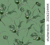 beautiful gentle floral summer...   Shutterstock .eps vector #2026214444