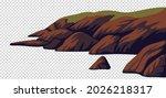Cliff  Vector Sea Rocky Coast...