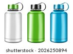 blank insulated water bottle... | Shutterstock .eps vector #2026250894