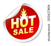 hot sale sticker badge with... | Shutterstock .eps vector #202627804