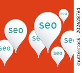 seo  search engine optimization ...   Shutterstock .eps vector #202628761