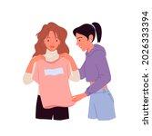 girl trying  choosing casual... | Shutterstock .eps vector #2026333394