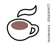 hot beverage emoji isolated... | Shutterstock .eps vector #2026343477