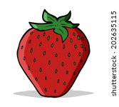 cartoon strawberry | Shutterstock . vector #202635115