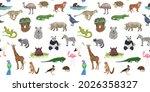 different wild animals....   Shutterstock .eps vector #2026358327