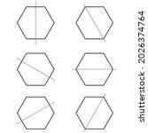 six lines of symmetry of... | Shutterstock .eps vector #2026374764