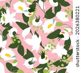 delicate pink pattern with... | Shutterstock .eps vector #2026380221