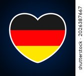 Germany Flag In A Shape Of...