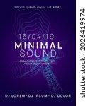 music flyer. dynamic gradient... | Shutterstock .eps vector #2026419974