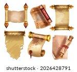 old parchment paper set  vector ... | Shutterstock .eps vector #2026428791