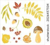 colorful paper cut autumn... | Shutterstock .eps vector #2026457534
