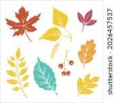 colorful paper cut autumn... | Shutterstock .eps vector #2026457537