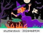 happy halloween holiday... | Shutterstock .eps vector #2026468934