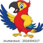 cute parrot cartoon vector...   Shutterstock .eps vector #2026504217