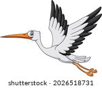 cute stork bird cartoon vector...   Shutterstock .eps vector #2026518731