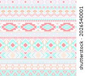 mexican american indian pattern ... | Shutterstock .eps vector #2026540001