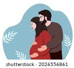 a muslim family  a husband  a... | Shutterstock .eps vector #2026556861