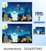 find difference  halloween...   Shutterstock .eps vector #2026557041