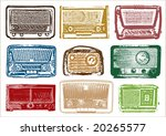 vintage radio vector | Shutterstock .eps vector #20265577