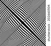 black and white pattern vector... | Shutterstock .eps vector #202660504