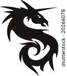 illustration of a vector dragon ... | Shutterstock .eps vector #20266078