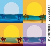 summer design over seascape... | Shutterstock .eps vector #202666654