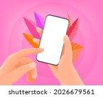 man holding modern smartphone... | Shutterstock .eps vector #2026679561