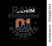 raw denim  stylish vintage... | Shutterstock .eps vector #2026681241