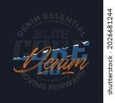 raw denim  stylish vintage...   Shutterstock .eps vector #2026681244