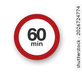 60 minutes timer. stopwatch... | Shutterstock .eps vector #2026724774