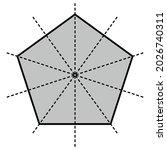 five lines of symmetry of... | Shutterstock .eps vector #2026740311