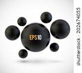 abstract spheres. vector... | Shutterstock .eps vector #202674055