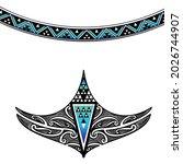 special maori tattoo redrawn...   Shutterstock .eps vector #2026744907