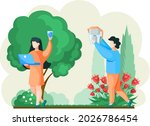 people drink filtered pure... | Shutterstock .eps vector #2026786454